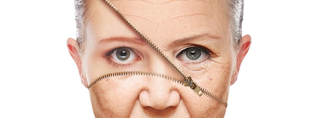 concept skin aging. anti-aging procedures, rejuvenation, lifting, tightening of facial skin